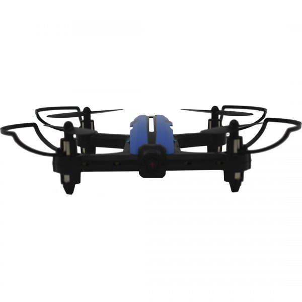Drone Toy-Stand X-DRONE RACER NANO RC WHDWA en color azul y negro de frente