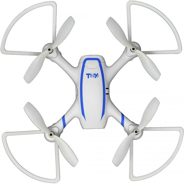Dron Toy-Stand X-DRONE VISION H4 RC Altitude WHDWA blanco con azul