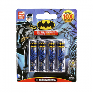 Pilas Batman de Toy Stand Doble AA paquete