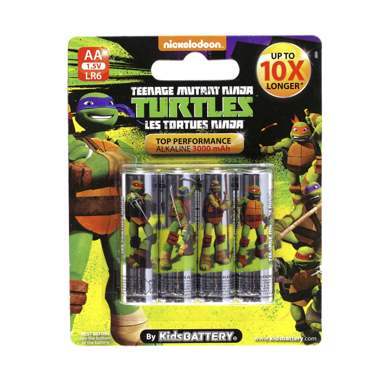 Pilas Tortugas Ninja de Toy Stand Doble AA paquete