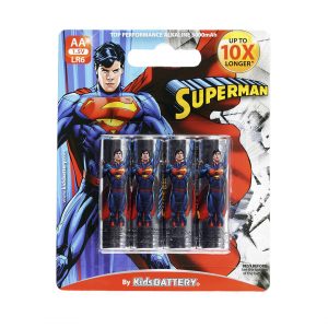 Pilas Superman de Toy Stand Doble AA paquete