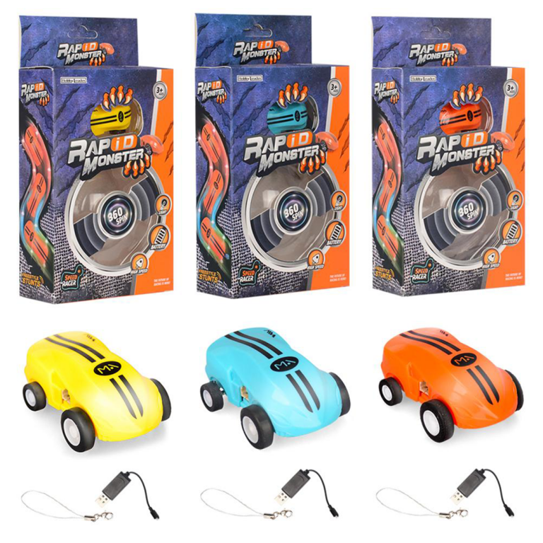 Mini coches Rapid Monster llaveros de Toy Stand coleccionables y conducción de 360º